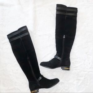 Black Over the Knee Riding Boots Size 7.5